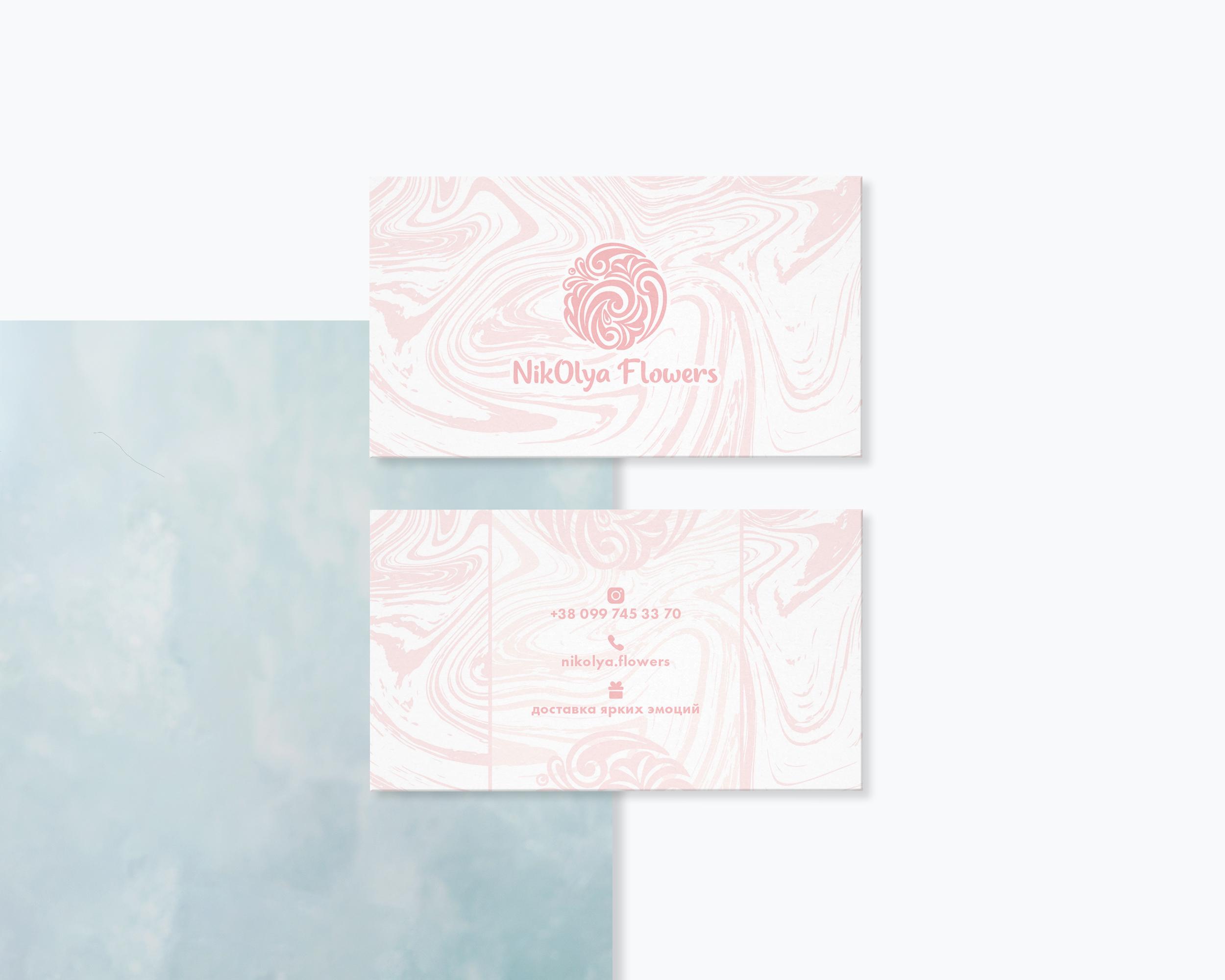 NikOlya Flowes bussiness card