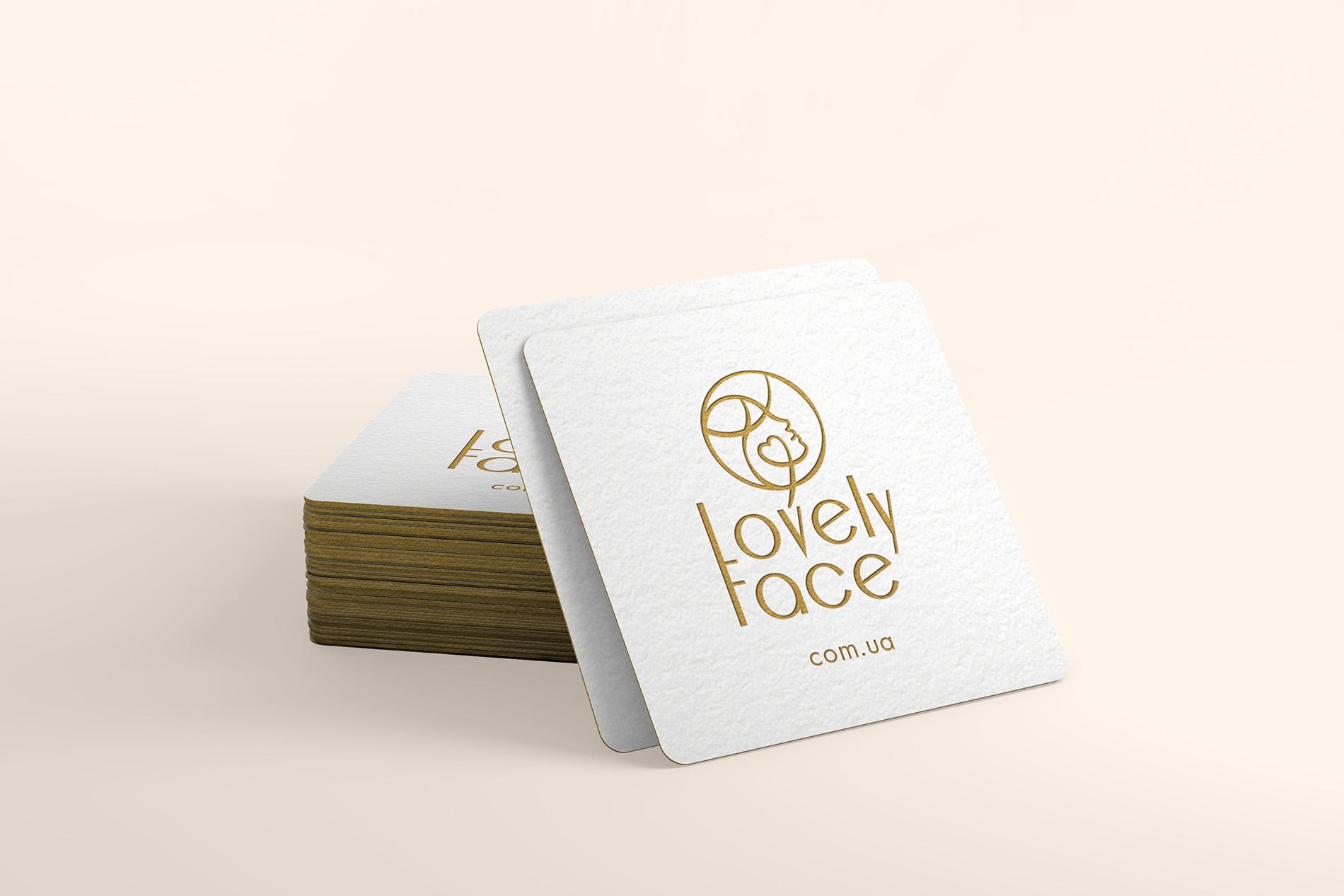 Lovely Face разработка визиток