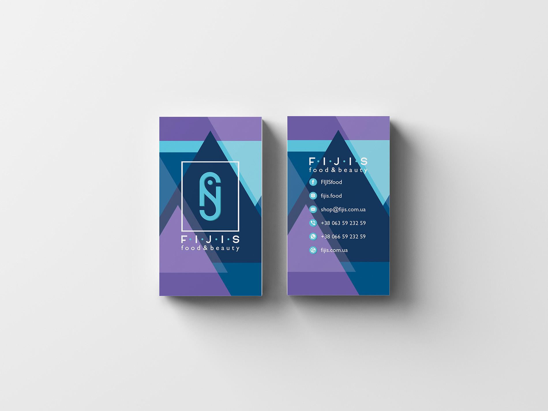Fijis дизайн визитки