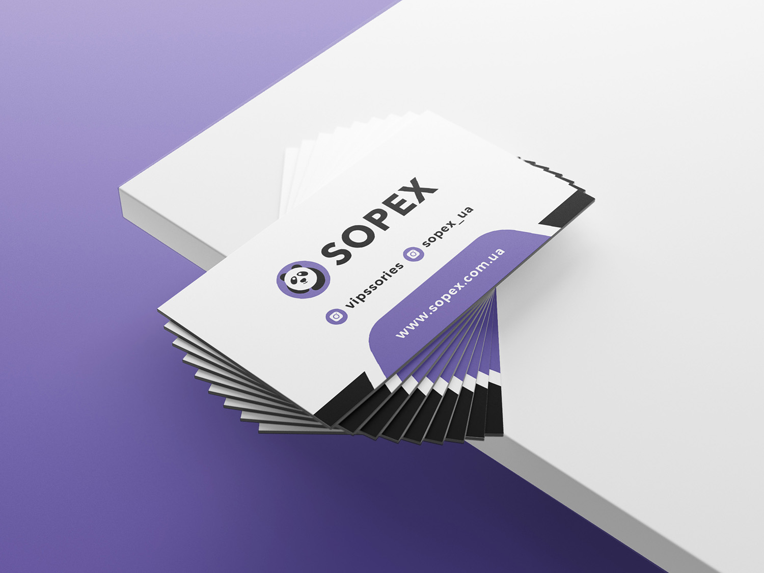 Sopex business card