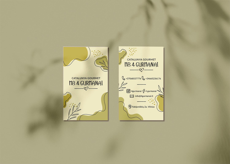4 Gurmani дизайн визитки