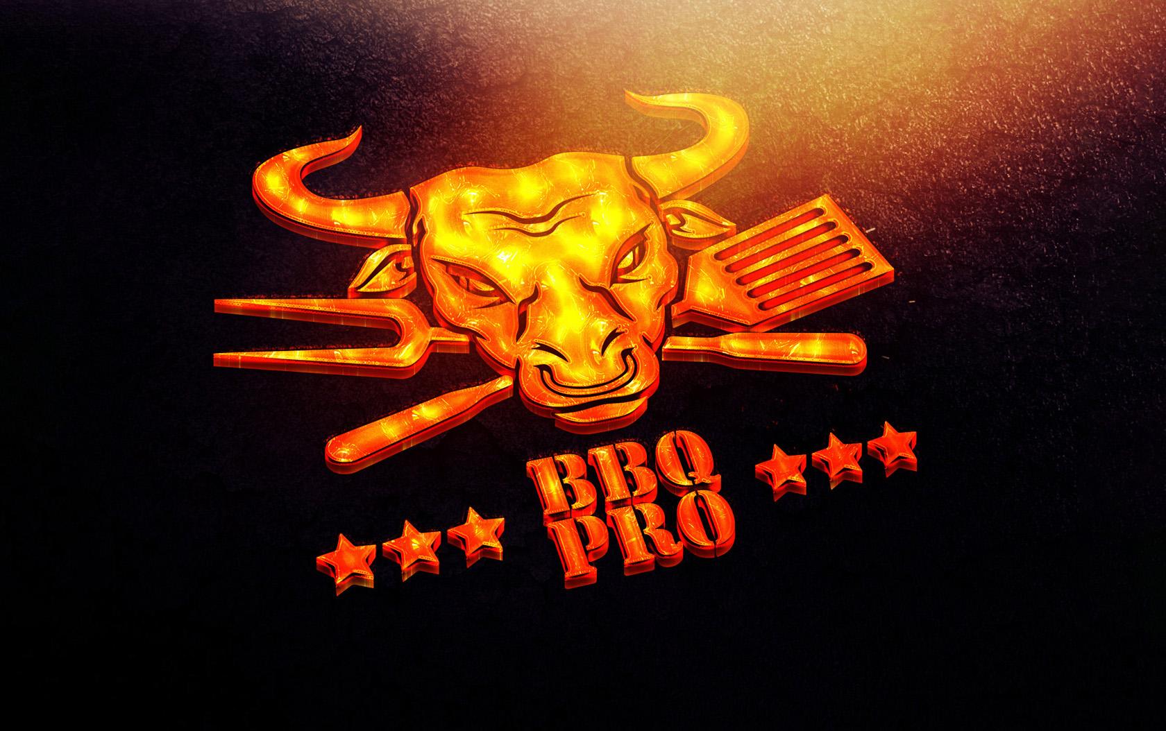 BBQ PRO создание логотипа