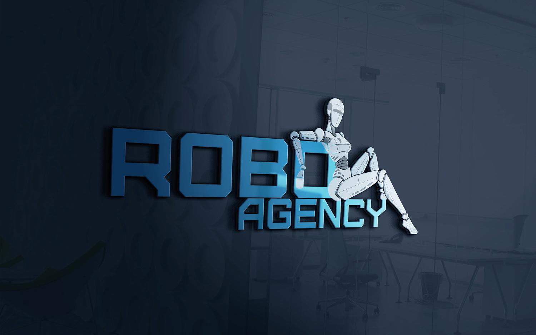 Robo Agency дизайн логотипа Харьков