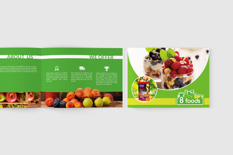 8 foods Создание дизайна каталога