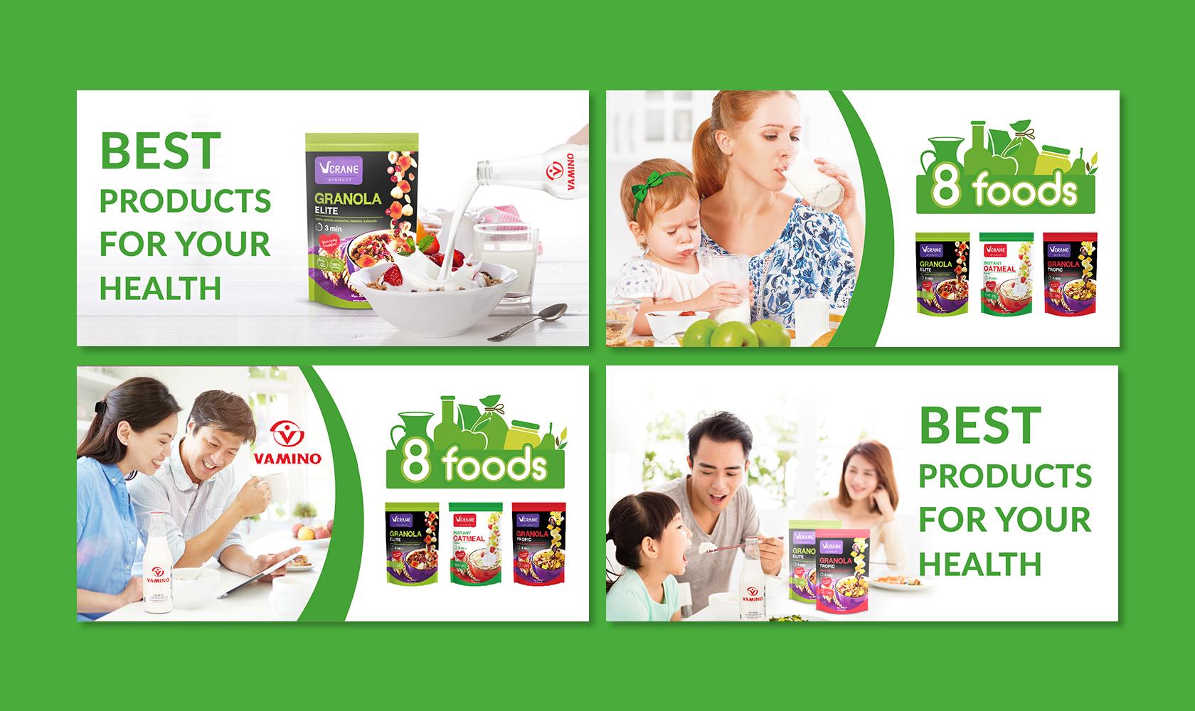 8 foods дизайнер баннеров