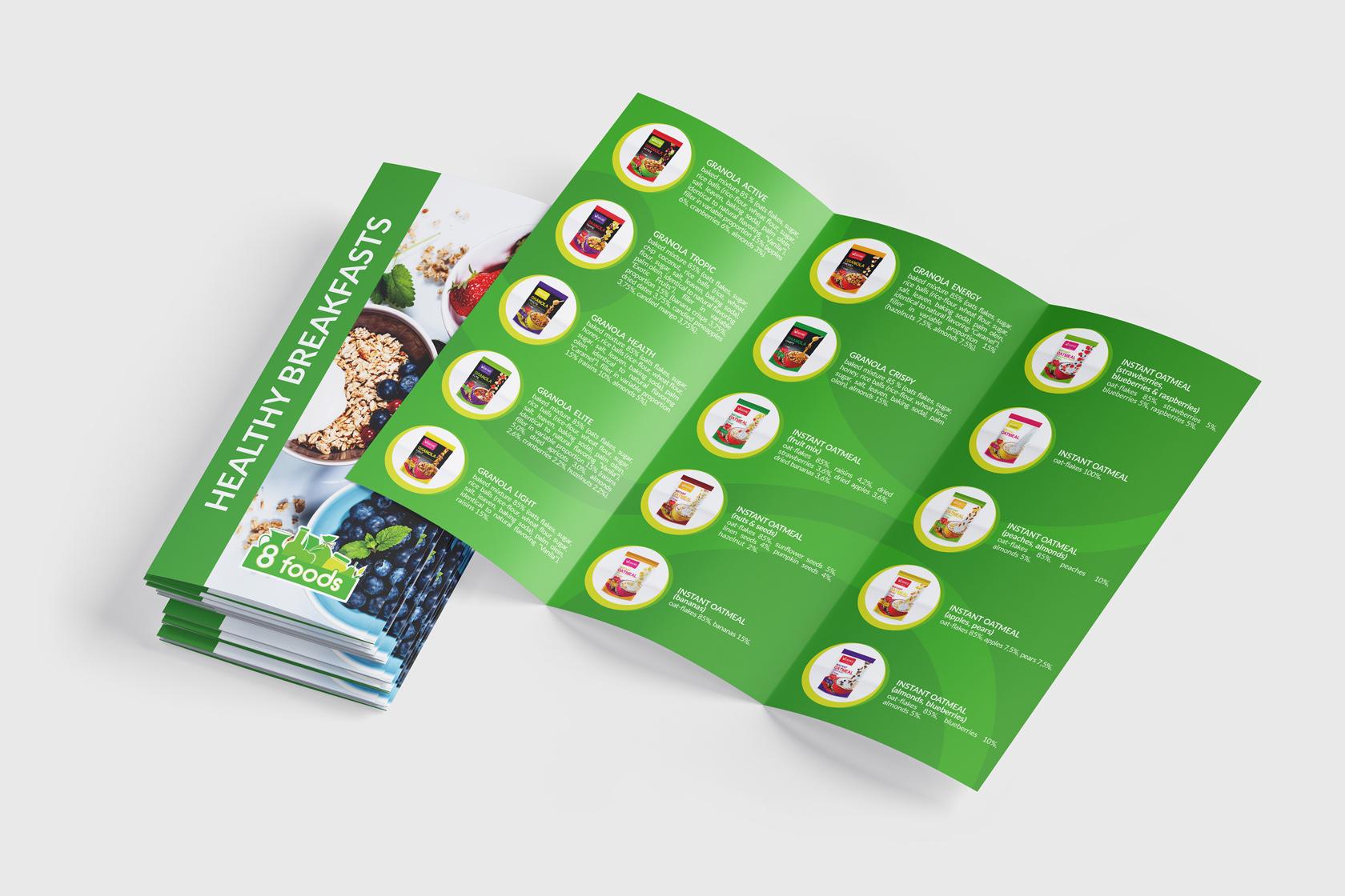 8 foods дизайн буклета