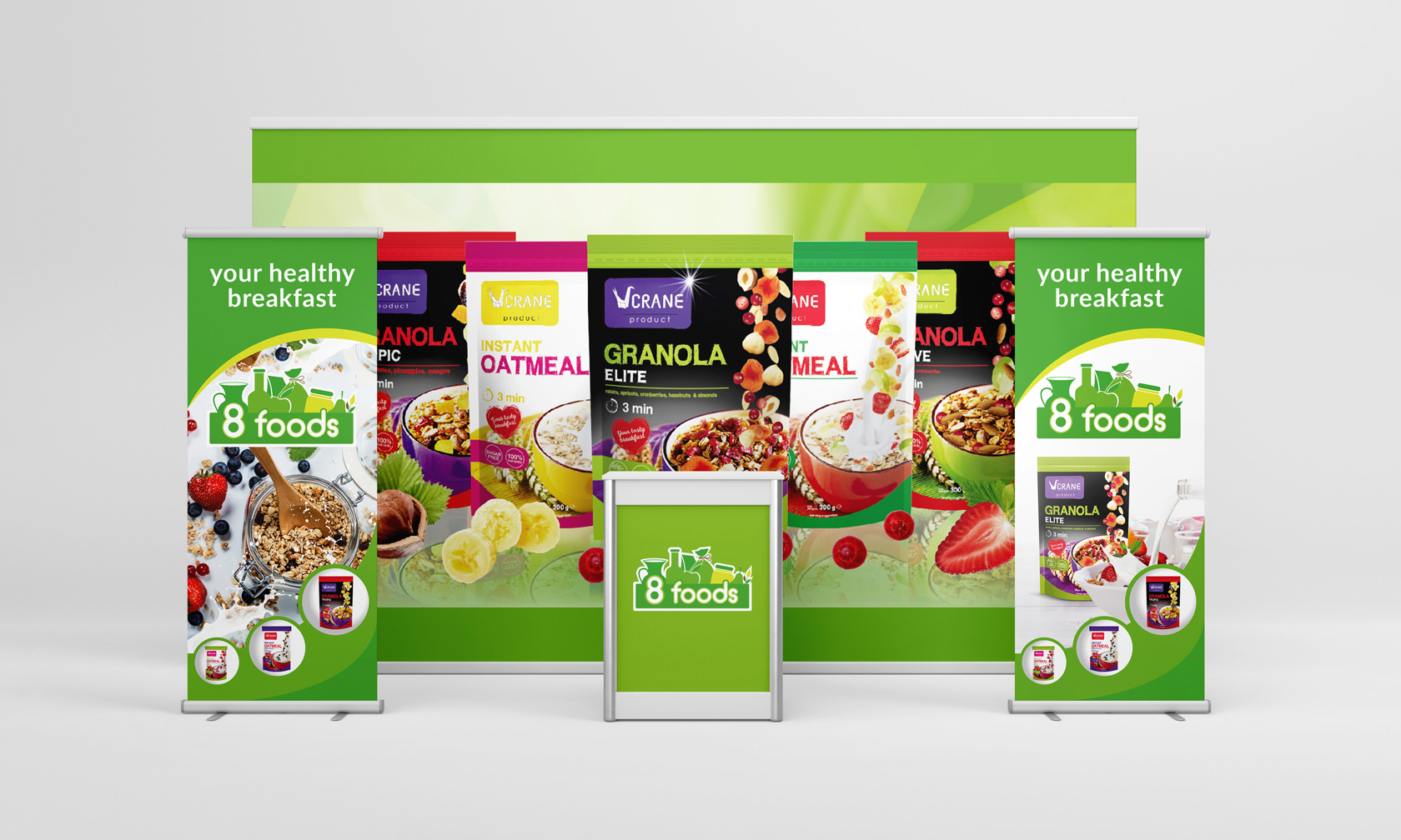 8 foods дизайн рекламы
