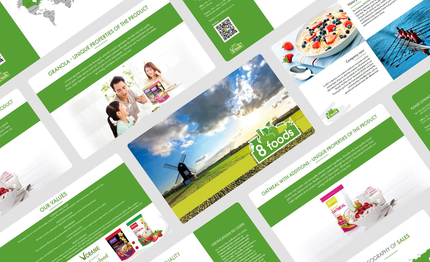 8 foods дизайн рекламных баннеров